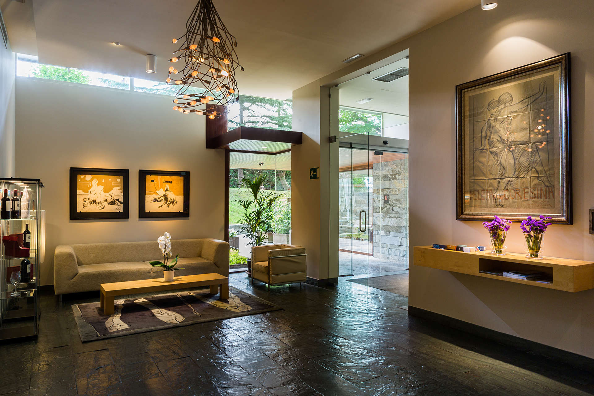 Recepción, Hotel Jaizkibel de Hondarribia