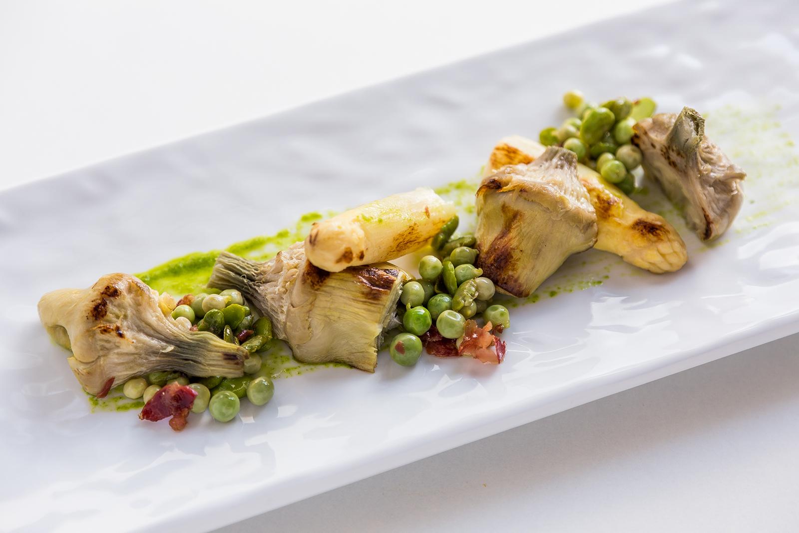 Verduras de temporada a la plancha, Restaurante Jaizkibel