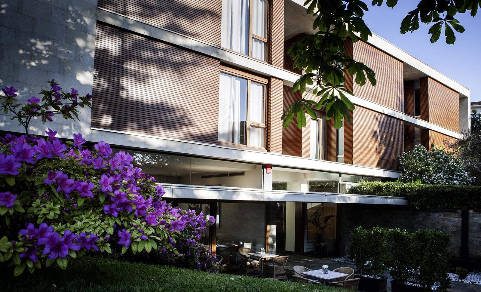 Fachada Hotel Jaizkibel de Hondarribia